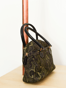Mini purse green paisley