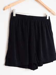 Short black silk