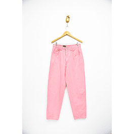Mom jeans rosados denim
