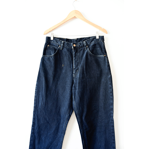 Mom jeans denim oscuro azul