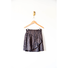 Falda animal print oscura
