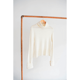Turtleneck blanco invierno