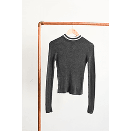 Turtleneck gris marengo
