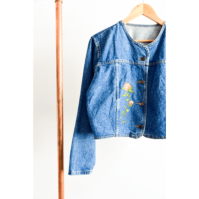 Chaqueta crop denim