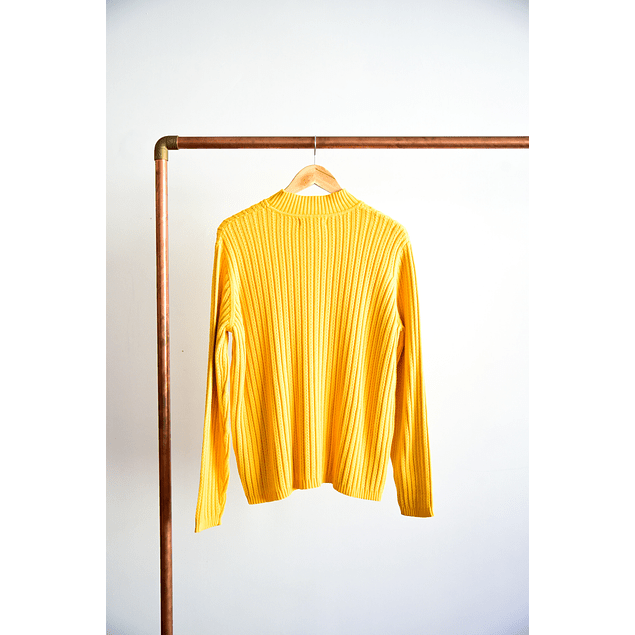 Turtleneck golden yellow