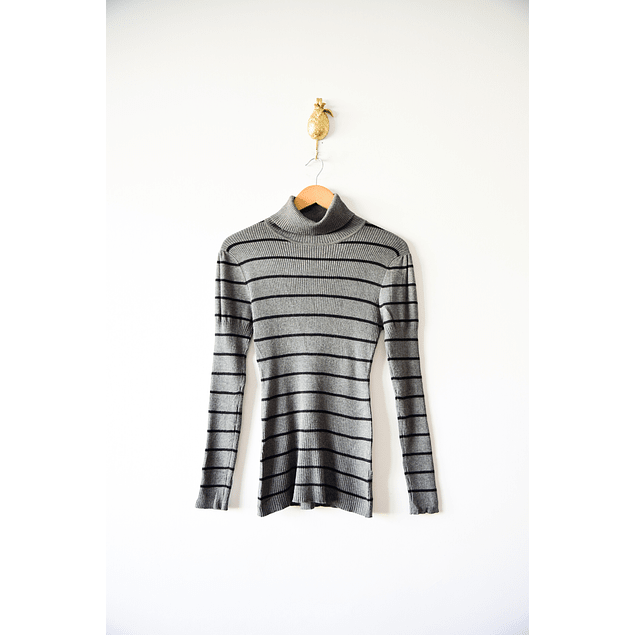 Turtleneck rayado gris