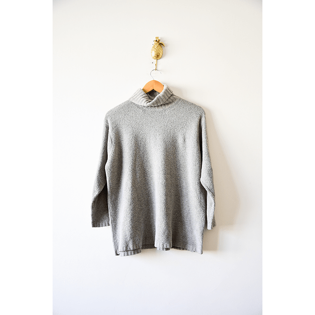 Turtleneck gris cardado