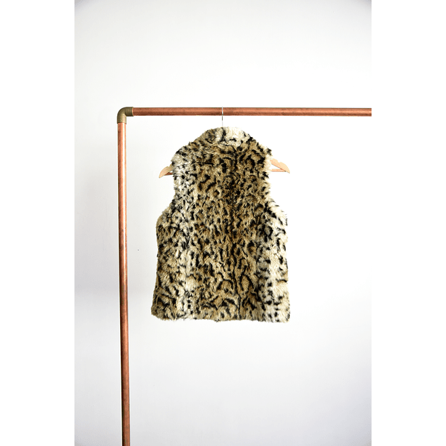 Vest peludo animal print