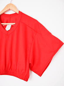 Croptop rojo sporty