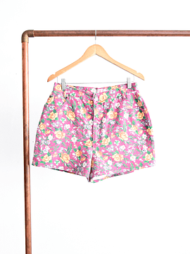 Short denim pink