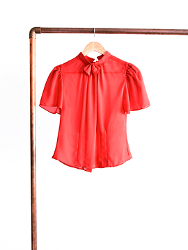 Blusa red bow