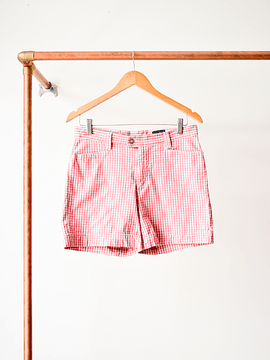 Short gingham red