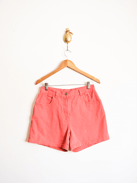 Short denim coral