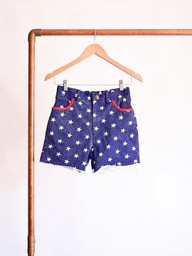 Short denim stars