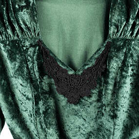 Crop Velvet Deep Green