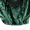 Crop Velvet Deep Green