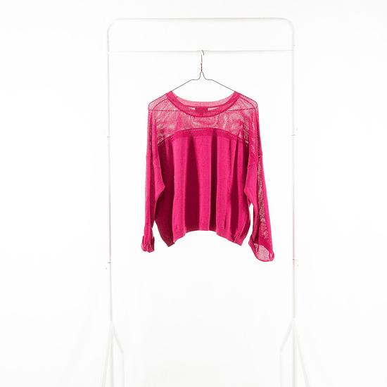 Sweater Calado Fucsia
