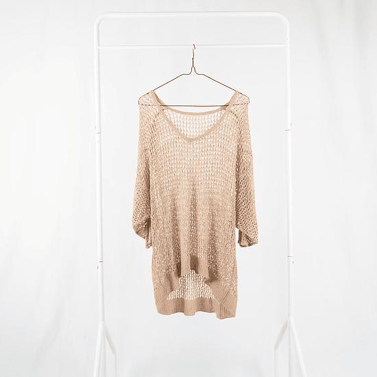 Sweater Calado Beige