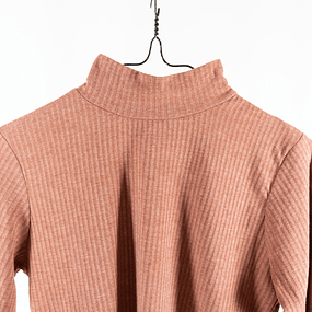 Crop Turtleneck Terracota
