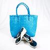 Shoulder bag Blue 80s