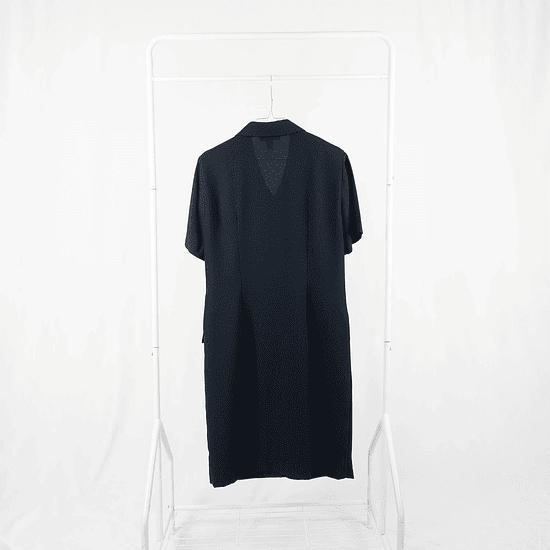 Vestido abotonado Navy