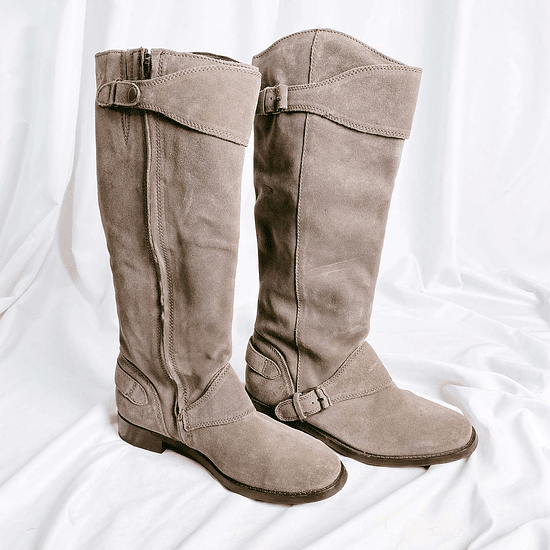 Gray Suede Boots