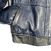 Bomber Blue Leather Jacket