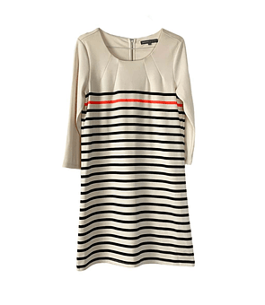 Lines Cream Dress