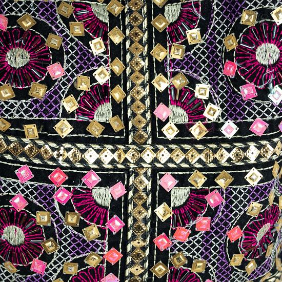Bolso Black Velvet Embroidery