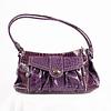 Shoulder Bag Purple Snake