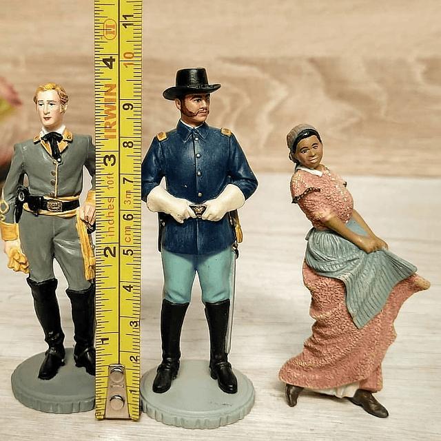 """Set de Figuras de Colección """"Lo que el viento se llevó"""", Franklin Mint."""
