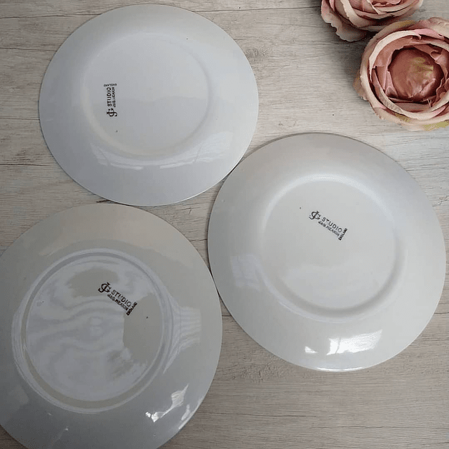 Set de Platos de ensalada J & G Meakin, años 70.
