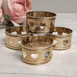 Set de Argollas de bronce para servilletas.