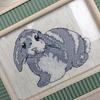 Cuadro Conejo, Punto cruz