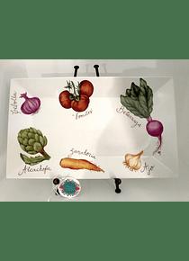 Fuente rectangular verduras