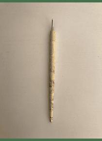 Plumín Laqueado Blanco con pluma Feustel 2081