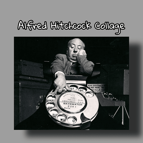 Alfred Hitchcook Collage