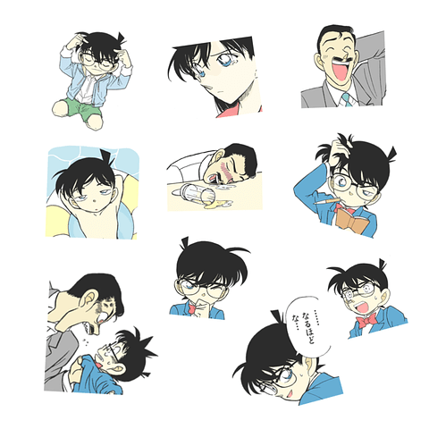Pack Stickers - Detective Conan