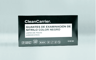 Guante nitrilo negro Clean Carry