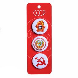 "Set de 3 pines ""URSS"""