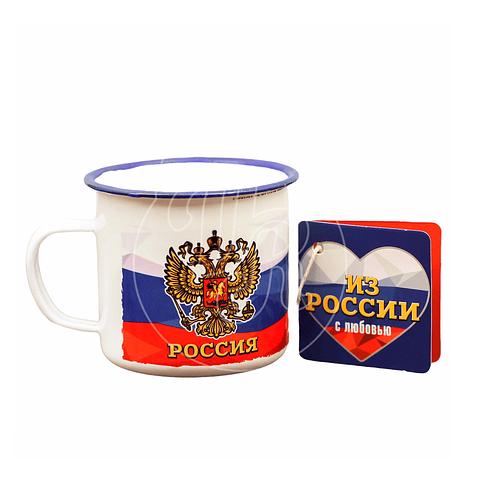 """Mug metálico """"Rusia"""""""