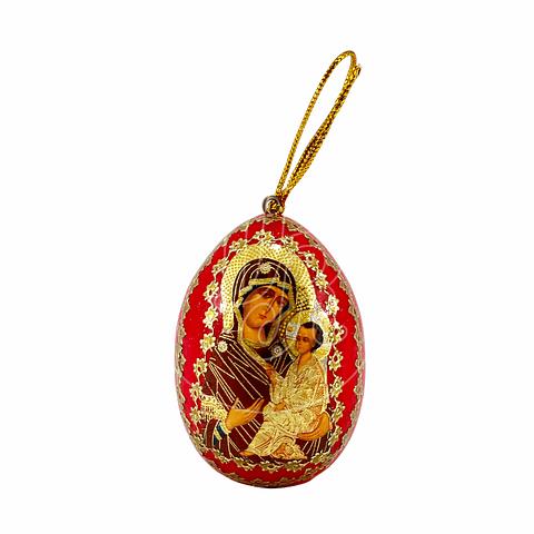 Huevo decorativo Virgen