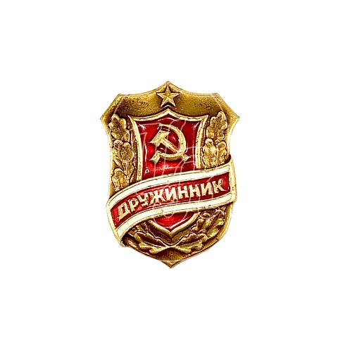 "Pin Soviético ""Druzhinnik"""