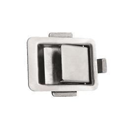 Cerradura chapa de impacto cromada sin llave