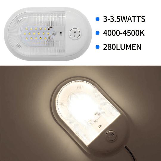 Foco LED 12V con interruptor negro