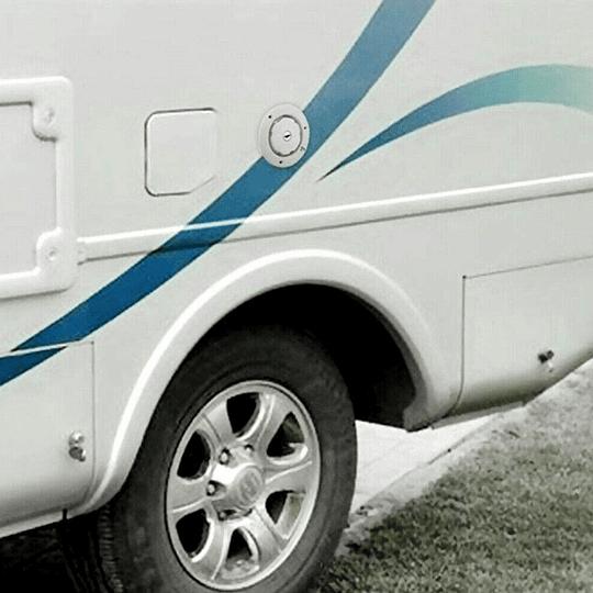 Entrada de Agua blanca con llave para casa rodante, camper, motorhome