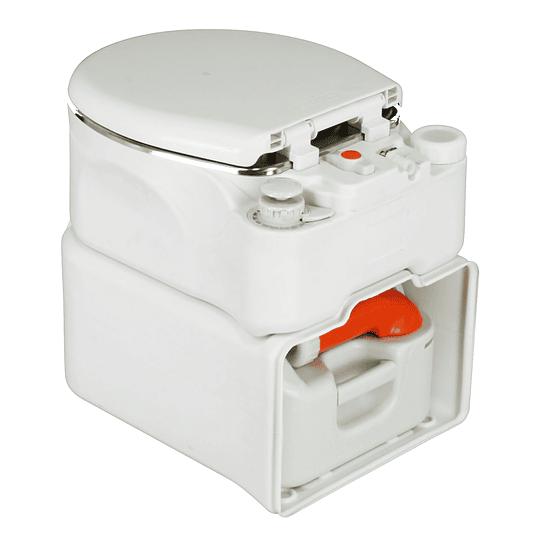 Baño Cassette con estanque retraíble y base de acero inoxidable