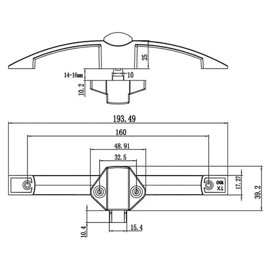 Manilla para muebles con tirador en forma de arco