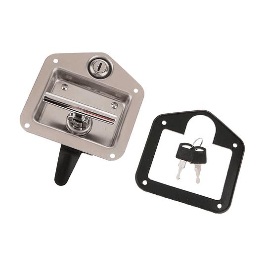 Cerradura cromada con tirador en T y llave