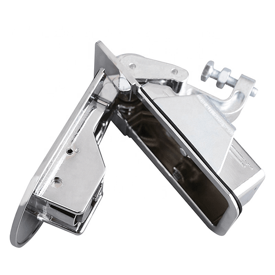 Chapa con botonera de acción a compresión con llave